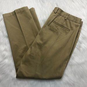 Orvis Mens 38 X 30 Pleated Khaki Dress Pants